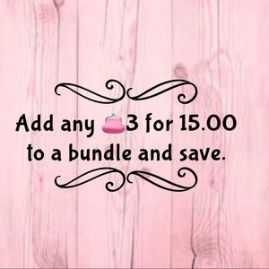 Bundle and safe 3 for 15.00